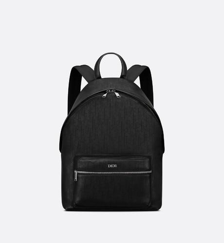 Rider Backpack • Black Dior Oblique Galaxy Leather
