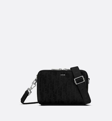Messenger Pouch • Black Dior Oblique Galaxy Leather