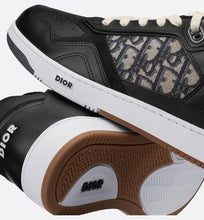Load image into Gallery viewer, B27 Low-Top Sneaker • Black Smooth Calfskin with Beige and Black Dior Oblique Jacquard