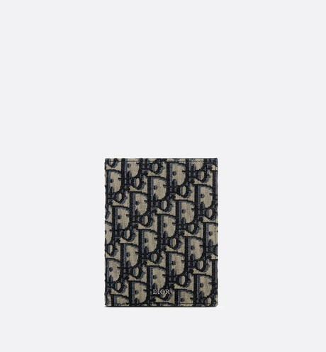 Passport Cover • Beige and Black Dior Oblique Jacquard