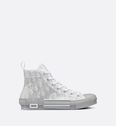 B23 High-Top Sneaker • Reflective Gray Dior Oblique Canvas