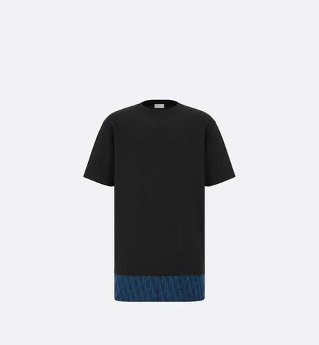 Oversized Dior Oblique T-Shirt • Navy Blue Cotton Jersey