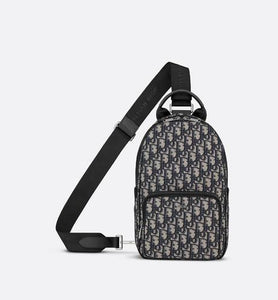 Crossbody Backpack • Beige and Black Dior Oblique Jacquard