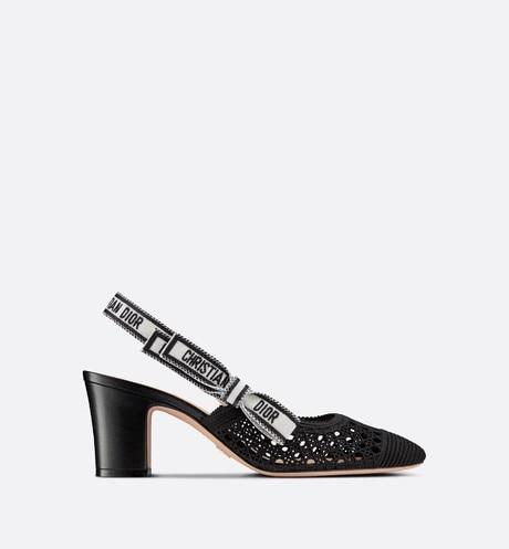 Dior & Moi Slingback Pump • Black Cannage Embroidered Mesh