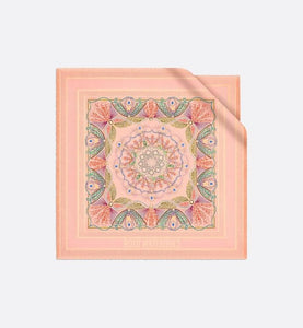 Dior in Lights Diortwin Square Scarf • Orange and Light Pink Silk Twill