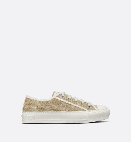 Walk'n'Dior Sneaker • Light Gold Cannage Embroidered Metallic Cotton