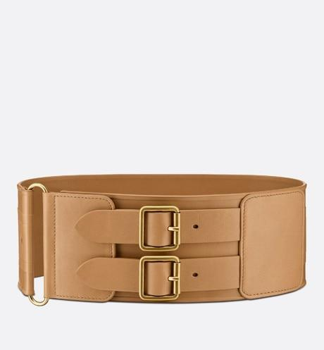 D-Waist Belt • Light Cuoio-Colored Smooth Calfskin, 10 CM