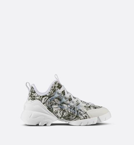D-Connect Sneaker • Multicolor Technical Fabric with Mille Fleurs Print