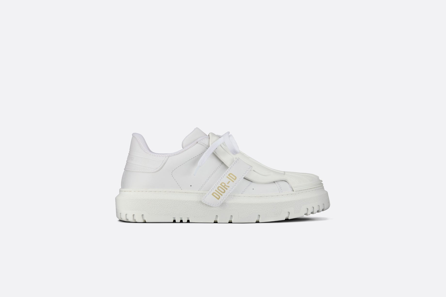 Dior-ID Sneaker • White Rubber and Calfskin