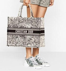 Dior Book Tote • Latte Multicolor Dior Zodiac Embroidery