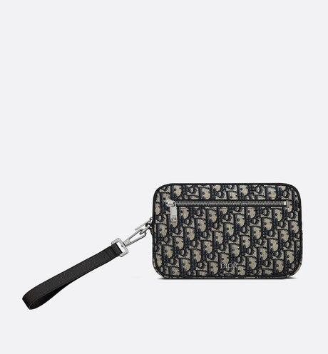 Pouch • Beige and Black Dior Oblique Jacquard