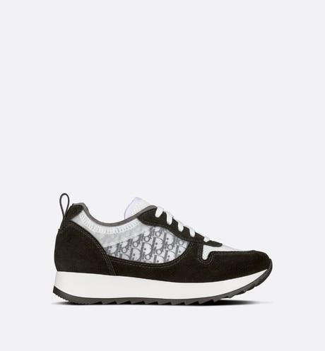 B25 Runner Sneaker • Black Dior Oblique Canvas and Suede