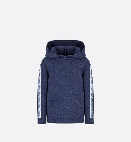 Hooded Sweatshirt • Navy Blue Wool, Silk and Cashmere Tricot Knit