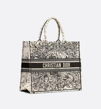 Load image into Gallery viewer, Dior Book Tote • Latte Multicolor Dior Zodiac Embroidery