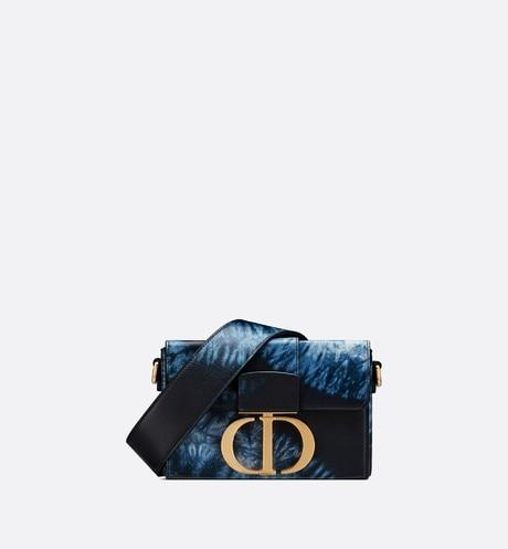 30 Montaigne Box Bag • Blue Multicolor Tie & Dior Printed Calfskin