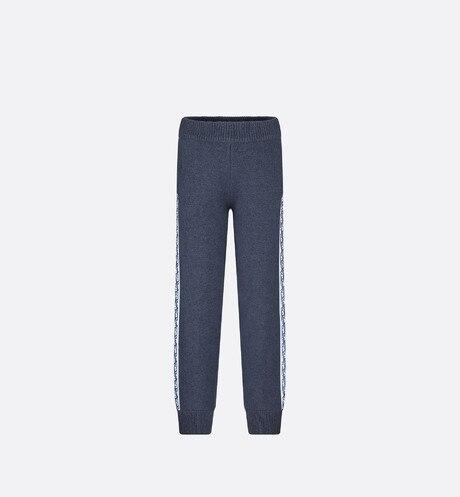 Track Pants • Navy Blue Wool, Silk and Cashmere Tricot Knit