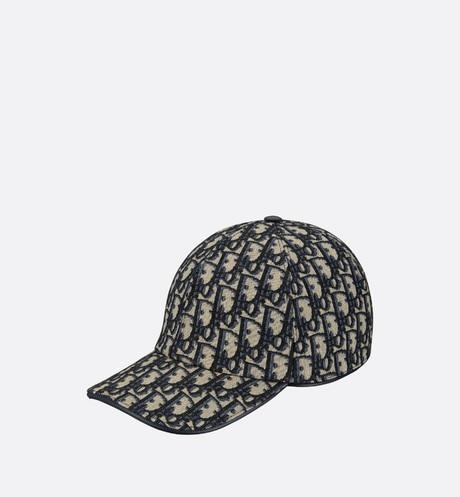Dior Oblique Baseball Cap • Navy Blue and Beige Technical Cotton Canvas