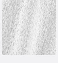Load image into Gallery viewer, A-Line Dress • White Terry Cotton Jacquard Jersey