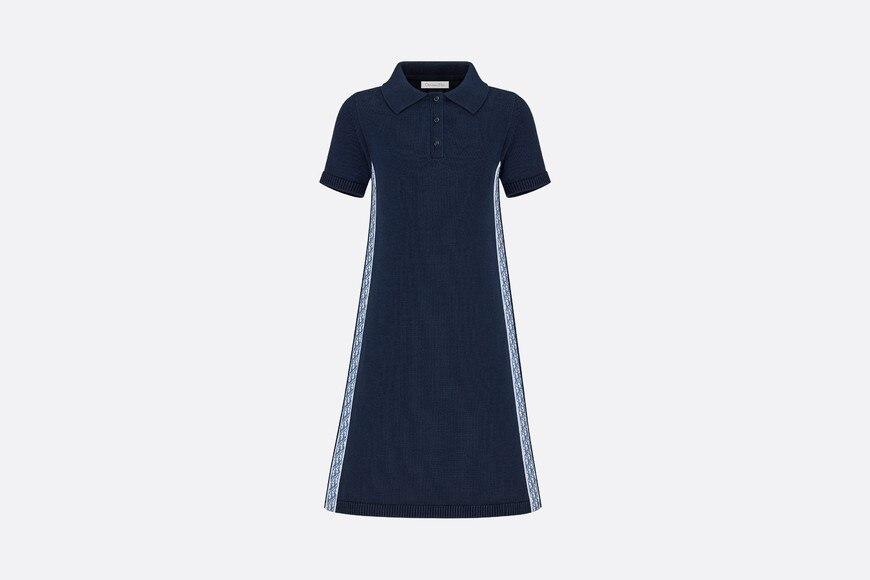 Polo Shirt Dress • Navy Blue Cotton Tricot Knit and Lyocell