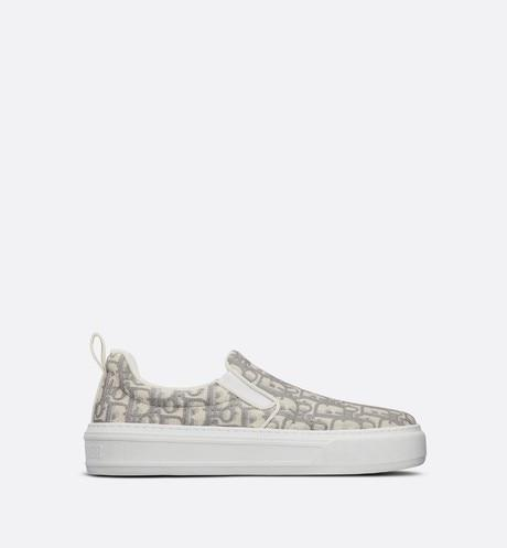 Dior Solar Sneaker • Gray Dior Oblique Embroidered Cotton