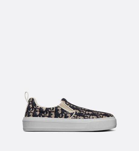 Dior Solar Sneaker • Blue Dior Oblique Embroidered Cotton