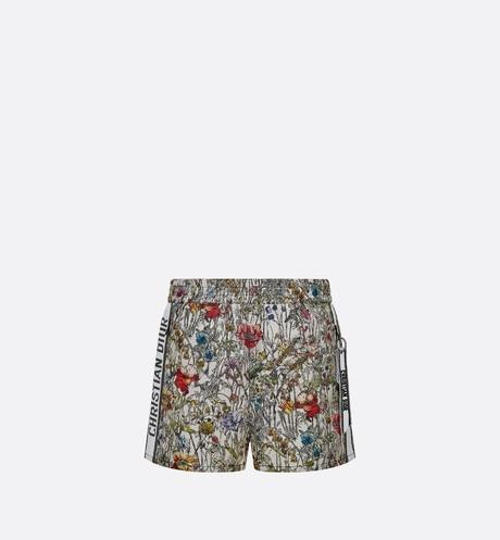 Shorts • Technical Taffeta Jacquard with Multicolor Mille Fleurs Motif