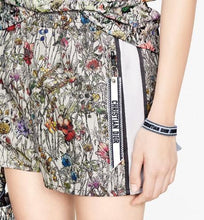 Load image into Gallery viewer, Shorts • Technical Taffeta Jacquard with Multicolor Mille Fleurs Motif