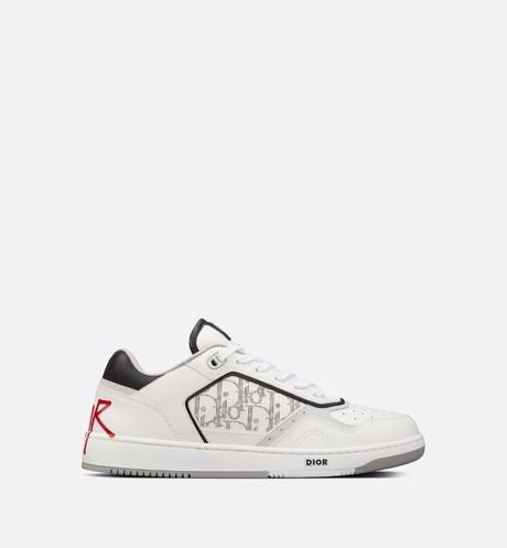 B27 Low-Top Sneaker • White Calfskin and Dior Oblique Galaxy Leather with DIOR AND SHAWN Signature