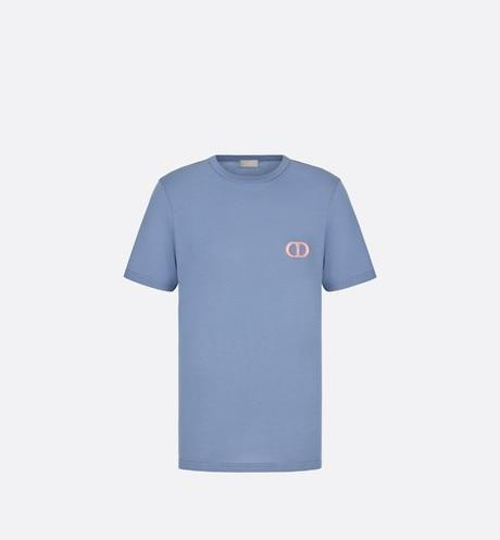 'CD Icon' T-Shirt • Blue Cotton Jersey
