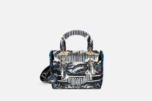 Medium Lady D-Lite Bag • Blue Dior Palms Embroidery
