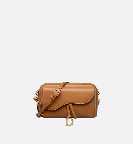 Saddle Double Pouch • Cognac-Colored Goatskin