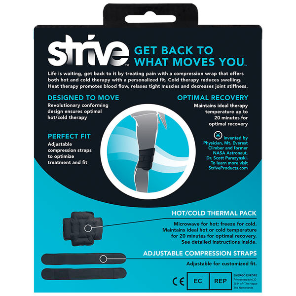 Instructions for Strive Hot & Cold Compression Knee Wrap