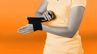 Use Strive's Thumb Compression Wrap to support sore thumbs