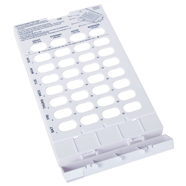 Cold Seal Tray 28/31-day tray open