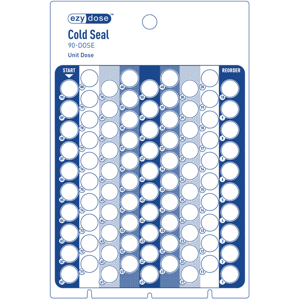 Cold Seal Card 90-dose front