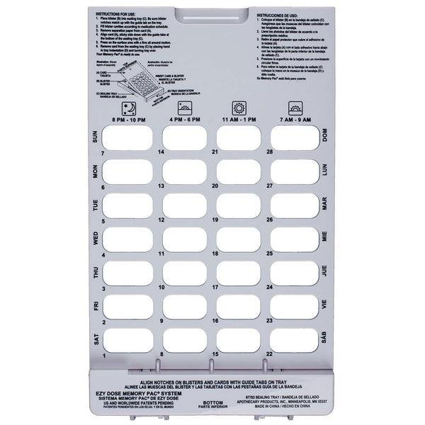 Cold Seal Tray 28-dose tray