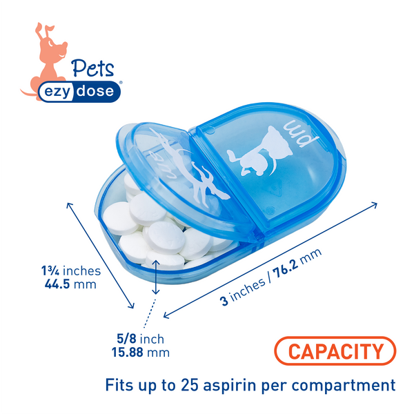 Ezy Dose® Pet Daily Pill Planner - Dog