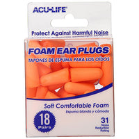 Foam Ear Plugs 18pr