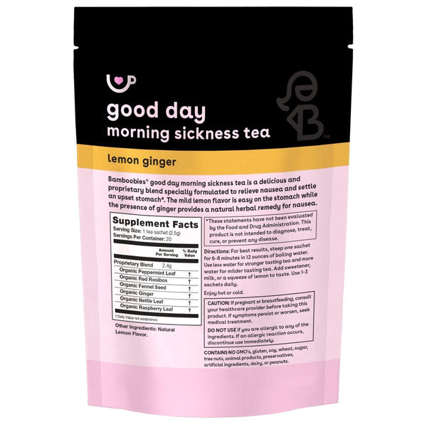 good day morning sickness tea (lemon ginger)
