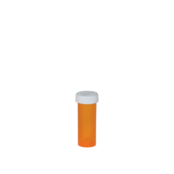Amber Push & Turn Medication Vial