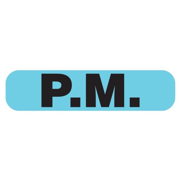 """PM"" Medication Label"