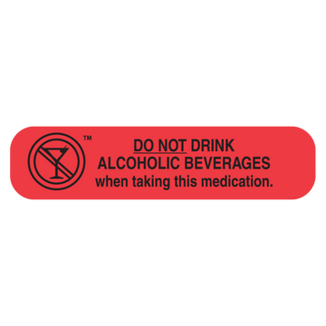 """DO NOT DRINK ALCOHOLIC"" Label"