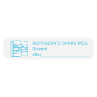 """REFRIGERATE, SHAKE WELL"" Medication Label"