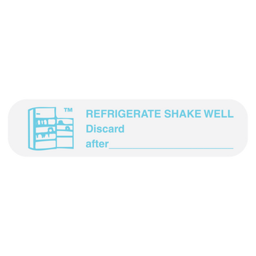 """REFRIGERATE, SHAKE WELL"" Label"