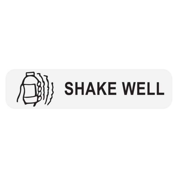 """SHAKE WELL"" Medication Label"