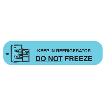 """DO NOT FREEZE"" Label"