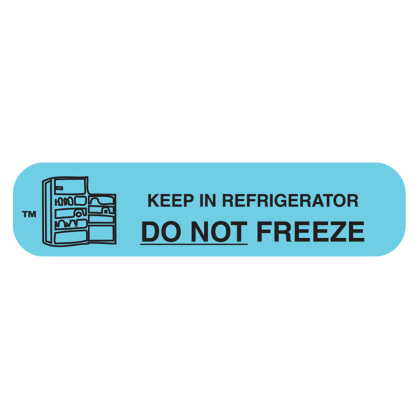 """DO NOT FREEZE"" Medication Label"