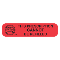 """CANNOT REFILL"" Label"