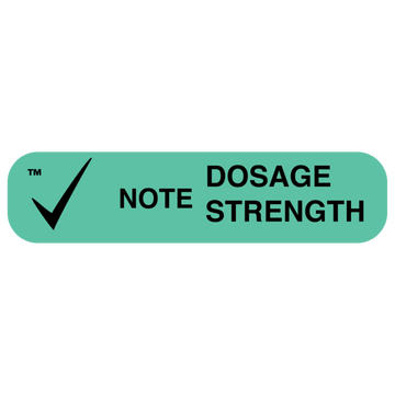 """NOTE DOSE STRENGTH"" Label"
