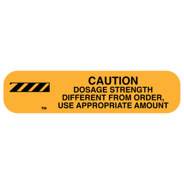 """DOSE STRENGTH"" Label"